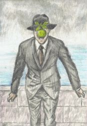 Mr Bowie gone Magritte by gagambo