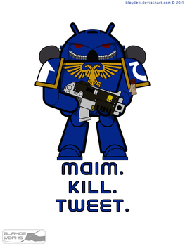 Android Space Marine by BlaydeXi