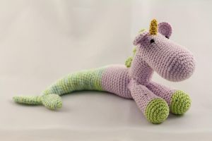 Little Amigurumi Mermaid Unicorn by karenscrochetcorner