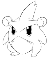 .:Pkmn:. Gible Lineart
