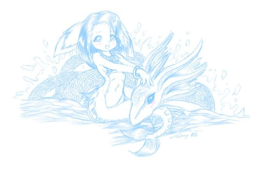 Furry Mermaid by tommychan