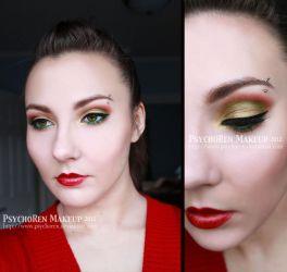 Christmas Makeup by psychoren