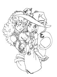 Blue Witch line art by GlyphBellchime