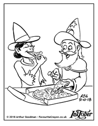 Inktober 2018 - Witches and Wizards - Slice by FavouriteCrayon