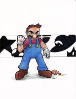 Mario -There Will be Brawl by Sea-Salt