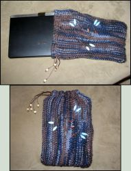 Netbook purse by MimozaBlooming