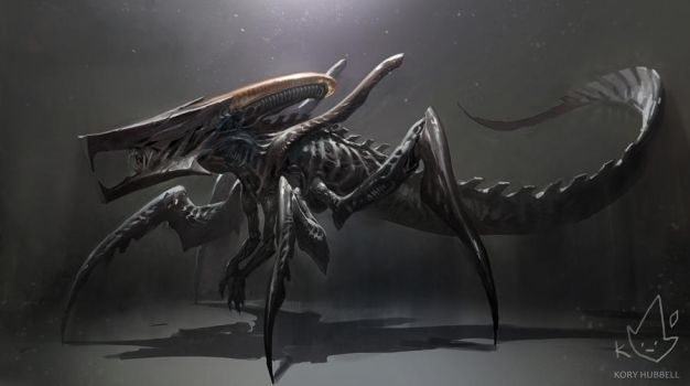 Xenomorph + Starship Trooperes Warrior Bug by Koryface