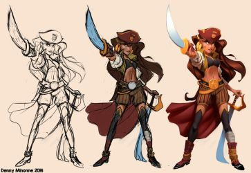 Lady Pirate W.i.p. by Sommum