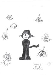 Felix The Cat Drawing by TransformersMarvel