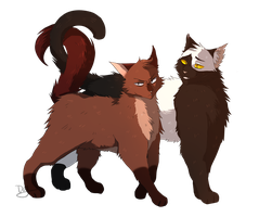 Tawnie and Cecil by lulucampo