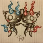 Komasan and Komajiro by TuxedoLynx