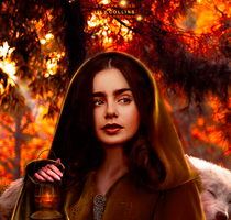 lily collins/little red riding hood by BYDARKMOON