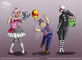 FNAF Human Toy Team 2 by HalianFromPlanetZork