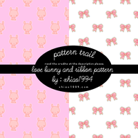 love bunny and ribbon pattern by xhiao1994
