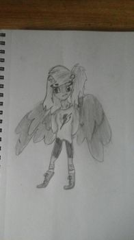 Human with wings by battythekid