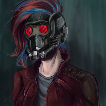 My OC star lord by Zefirayn