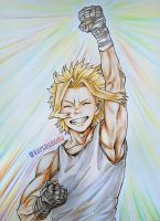 Toshinori Yagi (YOUNG ALLMIGHT) FA by deadlyworks