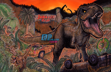 Welcome to Jurassic Park by Pixelated-Takkun