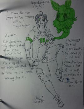 DC Redesign: Emerald Guardians: Kyle Rayner by wallaswells1