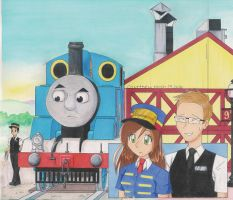 Thomas Goes Abroad by LetMePaint-theSky