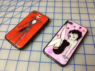 iPhone 4 cases Jack and boop by aestheticreations