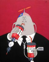 McGreed#2- acrylic on panel canvas, 50x40cm,2015 by alexander982