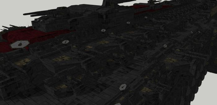 Legion Caesar Class Dreadnaught Starboard Guns by spyderrock48