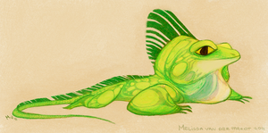 Iguana by sketchinthoughts