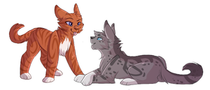 Shadowpaw and Firepaw - Commission by shadowily