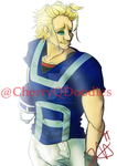 Football AllMight by CherryQDoodles