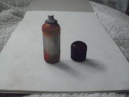 3D spray can drawing by undercoversketch