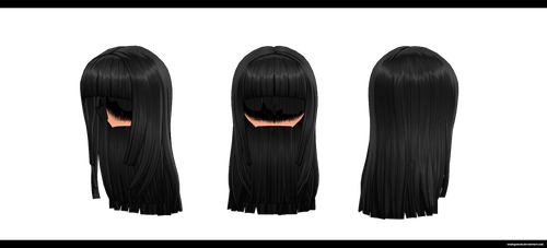 MMD: Long hair 1 DL by kaahgomedl