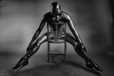 Latex, Gas Mask and Ballet Boots by Ange1ica