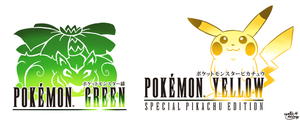 Final Fantasy Logo Art: Pokemon Green and Yellow by MAST3R-RAINB0W