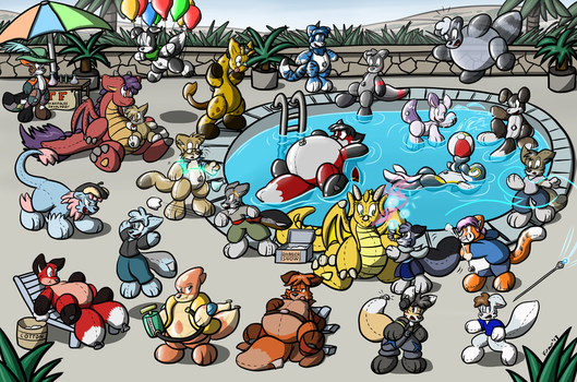 Giant Toy Party by Virmir