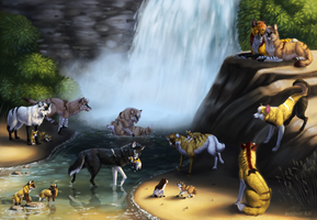 By the Waterfall by Imaginary-Rat