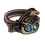 Steampunk Owl Ring by CatherinetteRings