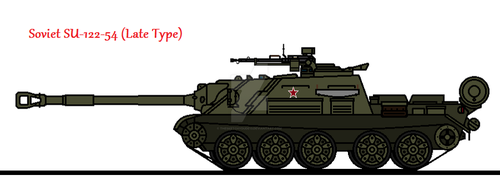 Soviet SU-122-54 (Late Type) by thesketchydude13