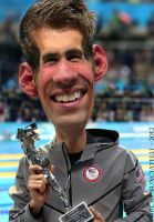 Caricature Michael Phelps by dnunciate