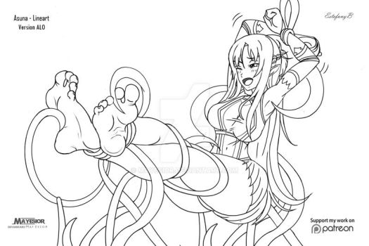 Asuna Version ALO -  Lineart by MayEsior