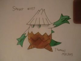 the pokemon Snover finished drawing