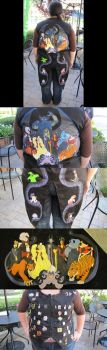 Disney Villains Vest by ShinigamiDuoLover