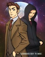 The Doctor and the Master by superspacemonkey