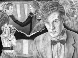 Doctor Who - The Pandorica WIP by DeanSidwellArt