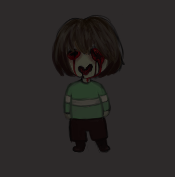 Chara in darkness by zahraa-alz