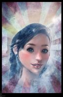 Snow fairy - poster by Bohy