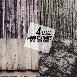 4 large wood textures by millioncolours92 by millioncolours92