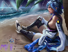 Aqua - Kingdom Hearts Beach by MiraiHikariArt