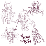 pkmno kazue emotional sketches by bluekazenate on deviantart