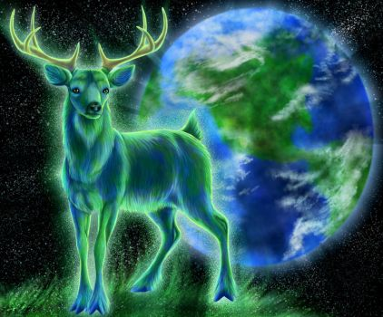 Cervus - God of Earth by Golphee